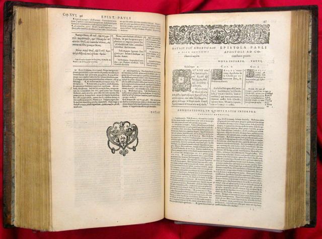 Nuovo Testamento greco di Teodoro di Beza (Ginevra, 1588)